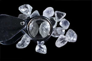 Beautifully rounded white diamonds of high quality
